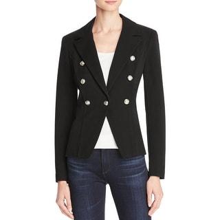 Aqua Womens Casual Blazer Gold Button Long Sleeves