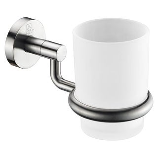 Anzzi AC-AZ001 Caster Wall Mounted Single Toothbrush/Tumbler Holder - n/a (2 options available)