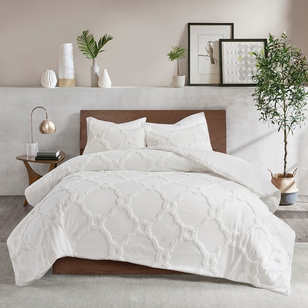 Madison Park Nollie Tufted Cotton Chenille Geometric Comforter Set. Opens flyout.