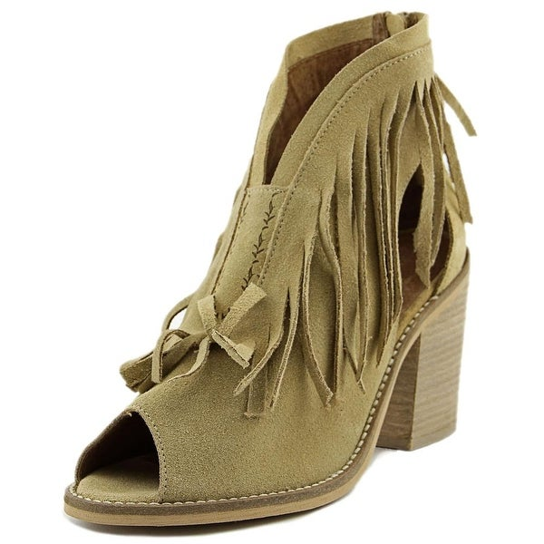 Musse & Cloud Caila Women Peep-Toe Synthetic Tan Bootie