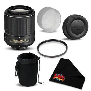 Nikon AF-S DX NIKKOR 55-200mm f/4-5.6G ED VR II Lens 20050 Bundle- International Version (No Warranty)