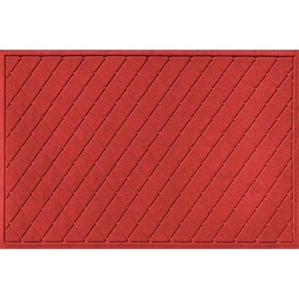 20377650035 Water Guard Argyle Mat in Solid Red - 3 ft. x 5 ft.