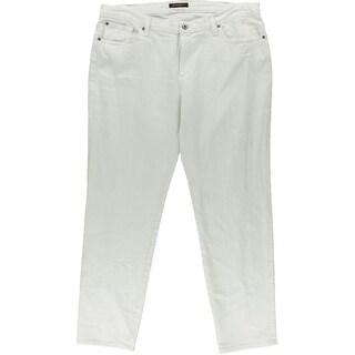 James Jeans Womens Plus Twiggy Denim Classic-Rise Cigarette Jeans