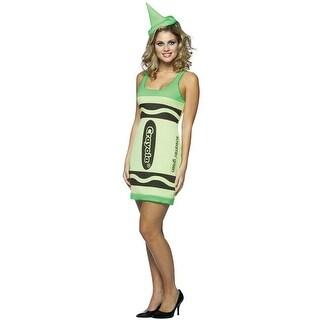 Rasta Imposta Crayola Screamin' Green Tank Dress Adult Costume - Solid - 4-10