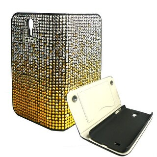 Digicom iCover Bling Wallet Case for Samsung Galaxy S4 (White/Yellow)