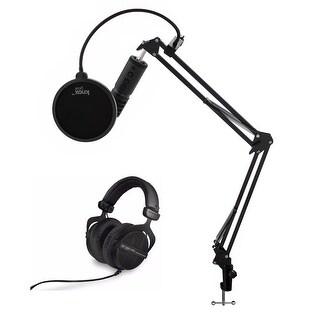 Beyerdynamic Open Back PRO Dynamic Headphones with USB Mic and Knox Gear Bundle