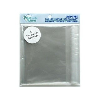 Envelope 4.375x5.75 10pc Translucent Clear