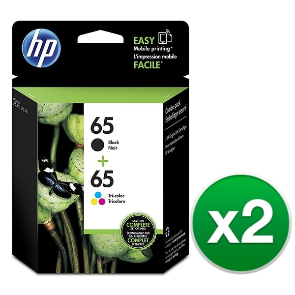 HP 65 2-Cartridges Black & Tri-Color Original Ink Cartridges (T0A36AN)(2-Pack)