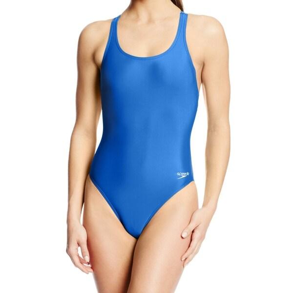 dbe0434dd1345 Shop Speedo Royal Womens One-Piece Racerback Swimsuit - On Sale ...