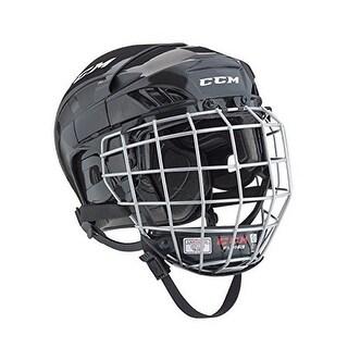 Ccm Mens Htfl40c Combo Helmet, Black, L
