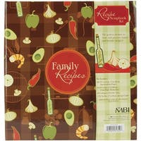 MBI 11x8.5 Inch 3-Ring Bound Scrapbook Kit, Family Recipes (881850)
