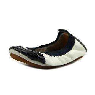 Yosi Samra Samra Round Toe Leather Ballet Flats