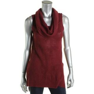 Ultraflirt Womens Juniors Sweater Ribbed Knit Sleeveless - M