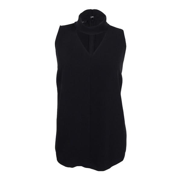 f156bacdaf989 Shop Alfani Women s Plus Size Cutout Mock-Turtleneck Top - Deep Black -  Free Shipping On Orders Over  45 - Overstock - 17019103