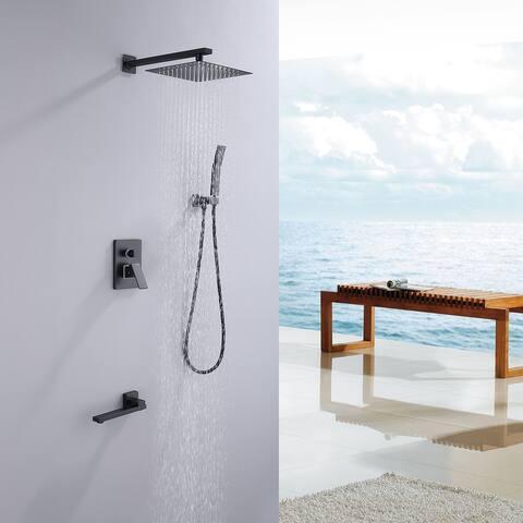 Matte Black Belt Bath Crock Faucet Shower Heads