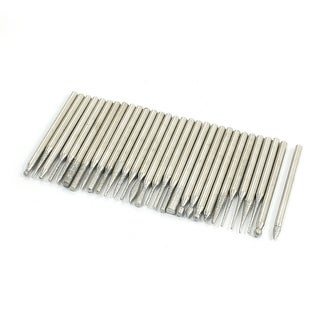 30Pcs 3mm Shank Diamond Mounted Point Rotary Drill Carving Milling Grinding Set