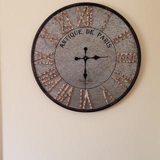 The Gray Barn Jartop Round Rustic Farmhouse Wall Clock