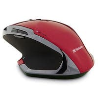 Verbatim Wireless Desktop 8-Button Deluxe Blue Led Mouse, Red 99021