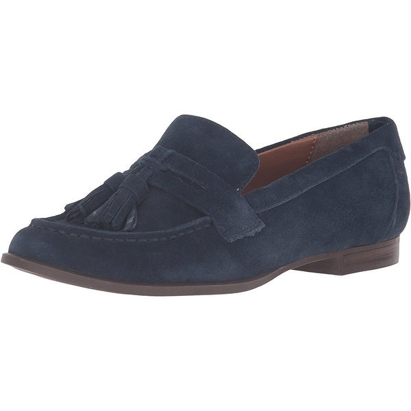 Tommy Hilfiger Womens Sonya Leather Almond Toe Loafers