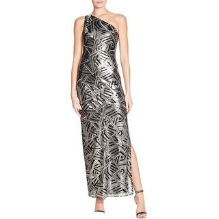 Laundry by Shelli Segal Womens Evening Dress Metallic One Shoulder