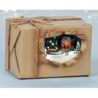 Amusements Battery Operated LED Lighted Musical Scenic Christmas Package - multi