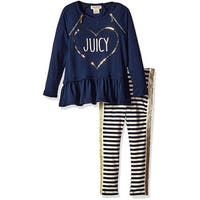 Juicy Couture Girls 2T-4T Striped Tunic Legging Set