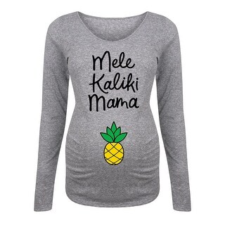 Mele Kaliki Mama Belly - Funny Pop Culture Maternity Long Sleeve Tee