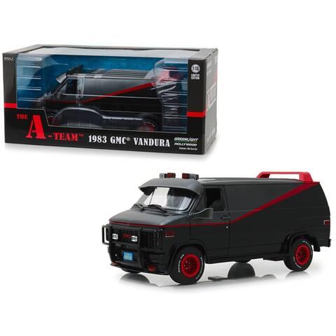 1983 GMC Vandura Black 'The A-Team' (1983-1987) TV Series 1/18 Diecast Model Car by Greenlight