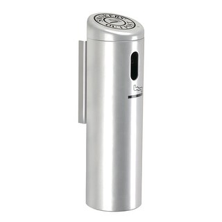 Commercial Zone 711207 Wall-Mounted Ashtray - Silver