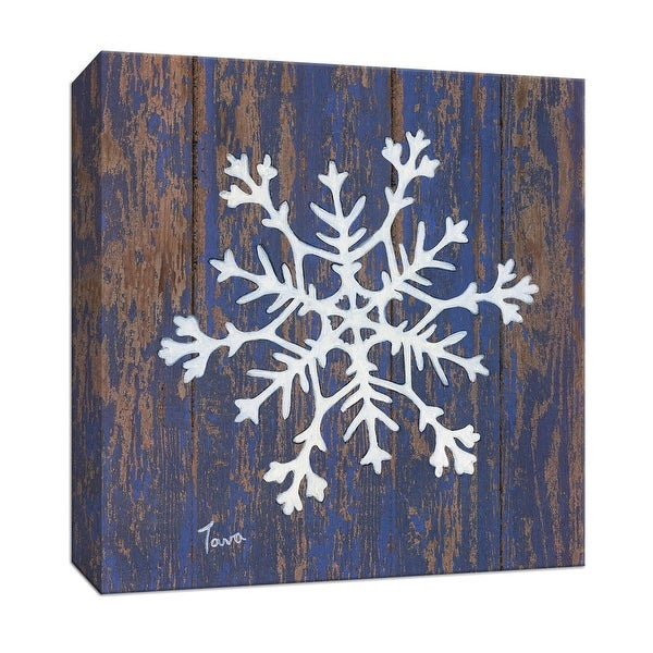 "PTM Images 9-147949 PTM Canvas Collection 12"" x 12"" - ""Stencil Snowflake"" Giclee Snowflakes Art Print on Canvas"
