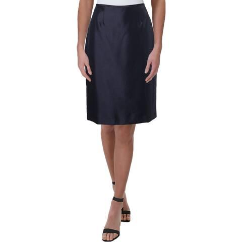 Le Suit Womens Pencil Skirt Shantung Office - 4
