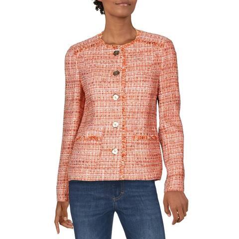 Basler Womens Blazer Wool Blend Tweed - Sunset Soul