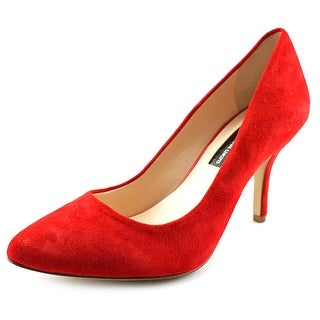 INC International Concepts Zitah Women W Pointed Toe Suede Red Heels