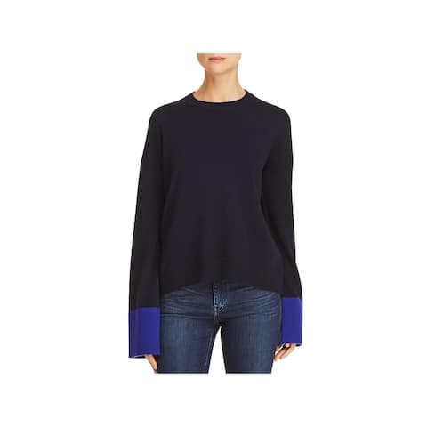Theory Womens Slouchy Pullover Sweater Wool Crew Neck