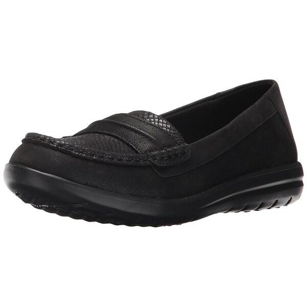 5e9fb6a1853 Shop CLARKS Womens Jocolin Maye Fabric Closed Toe Loafers - On Sale ...