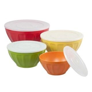 Supreme Housewares 349 Melamine Mocha Mixing Bowl Set with Lids