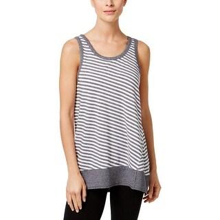 Calvin Klein Performance Womens Tank Top Striped Keyhole