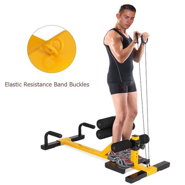 Shop Gymax 3 In 1 Sissy Squat Push Up Ab Workout Home Gym Sit Up Machine Overstock 23159601