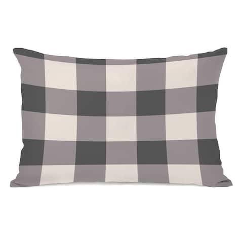 Kristy Charcoal - Lumbar Pillow