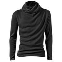 Men's NEW Dark Gray Cool Turtle Neck Autumn Fit Top