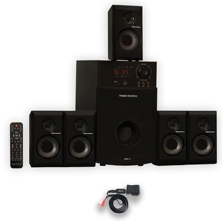 Theater Solutions TS514 Home Theater 5.1 Speaker System with Bluetooth and USB