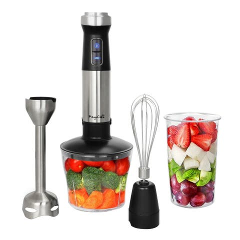 MegaChef 4 in 1 Immersion Hand Blender with Multi-Use Accessories