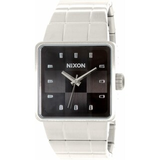 Nixon Men's Quatro A013000 Silver Stainless-Steel Quartz Fashion Watch