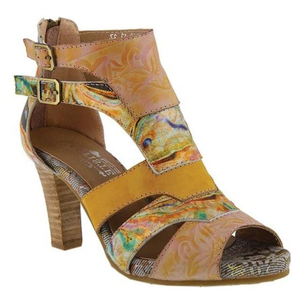 yellow open toe booties