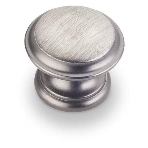 Jeffrey Alexander 251 Cordova 1-3/8 Inch Diameter Mushroom Cabinet Knob - Brushed Pewter