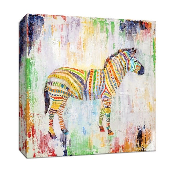 "PTM Images 9-147244 PTM Canvas Collection 12"" x 12"" - ""Magical Zebra"" Giclee Safari Animals Art Print on Canvas"