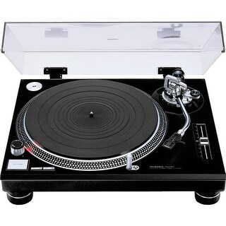 Professional Turntable with Headshell, 110-220V - Black