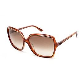 Missoni Women's Metallic Brow Oversized Sunglasses Tortoise - Clear - Small