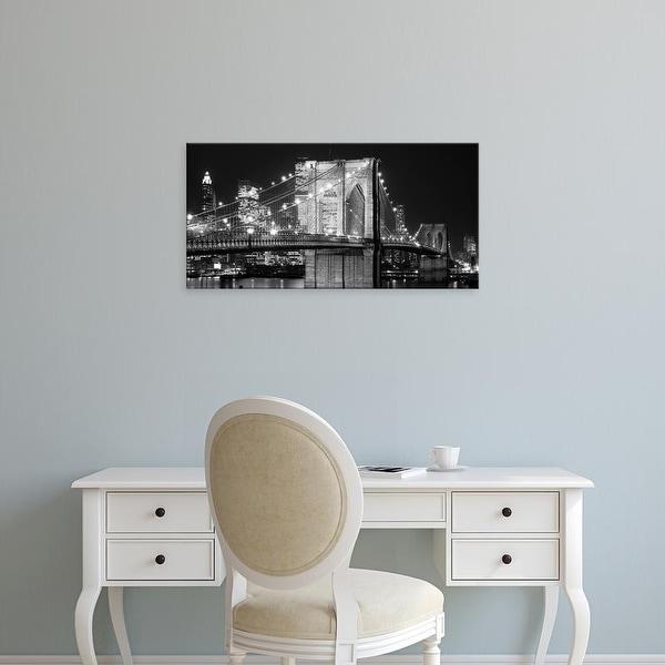 Easy Art Prints Jet Lowe's 'Brooklyn Bridge at Night' Premium Canvas Art