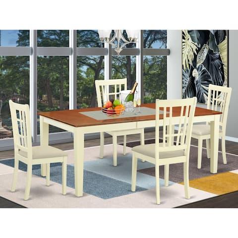 QUNI5-WHI 5-piece Kitchen Dinette Set